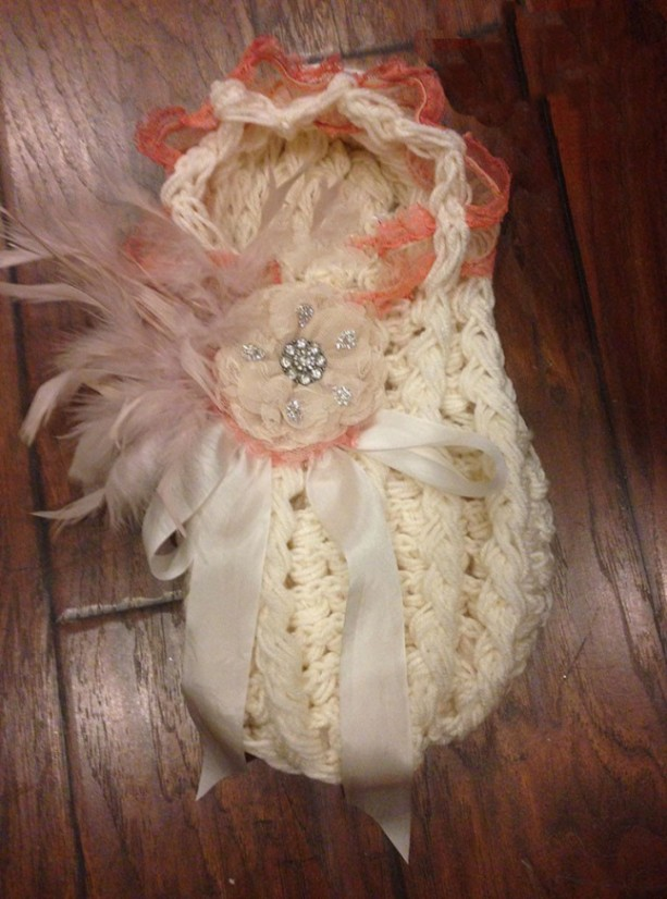 Ivory Vintage Newborn Cocoon
