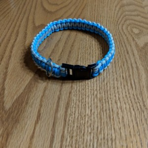 Parcord Dog Collar - Gray and Blue