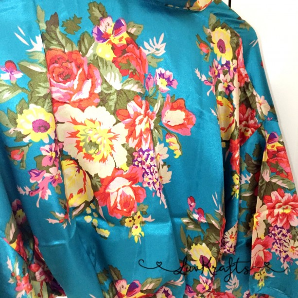 Maternity Robe, Floral Satin Robe, Delivery Robe, Labor Gown, Hos ...