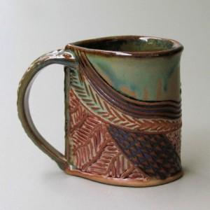 Cat Pottery Mug Coffee Cup Handmade Microwave and Dishwasher Safe 12oz