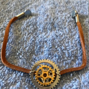 "Gear Strength handmade bracelet 8""long"