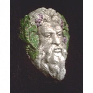 Bacchus Gothic Greenman Wine God Grape Myth Fantasy Greek Roman Pagan Man Face Wall Hanging Vineyard Home Garden Decor
