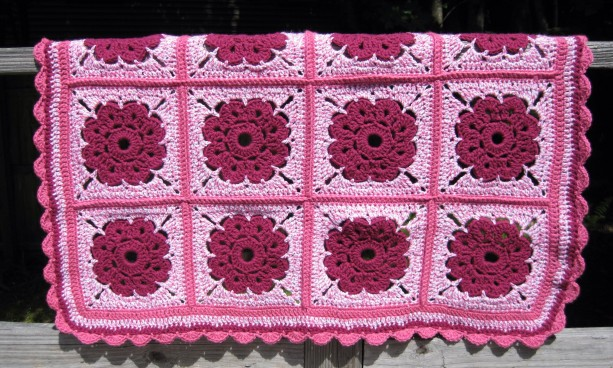 Maybelle Flower Baby Blanket