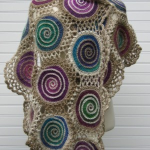 When Alice Fell Spiral Shawl
