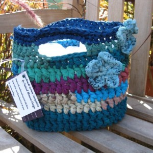 Calm Seas Reclaimed/Recycled Chiffon Purse