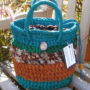 Turquoise - Reclaimed/Recycled Chiffon Purse