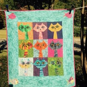 Sassy cat quilt