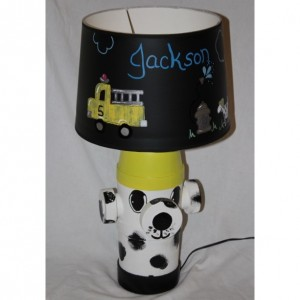 Fire Hydrant Dalmation  Dog Lamp