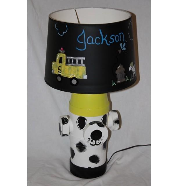 Fire Hydrant Dalmation  Dog Lamp