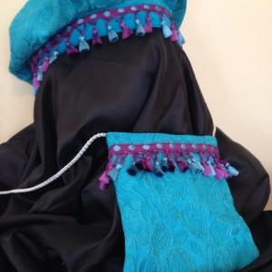 Renaissance beret with matching bag