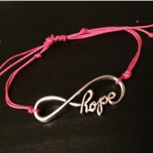 Breast cancer awareness bracelet