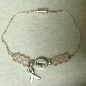 Breast cancer awareness hope bracelet