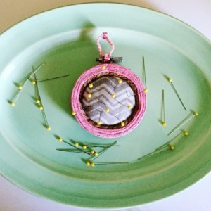 Embroidery Hoop Pincushion