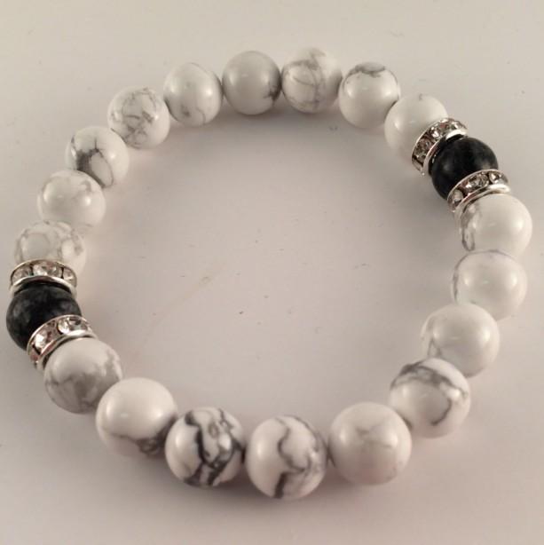 Yin & yang stretch bracelet