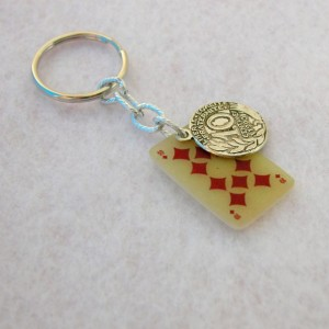 Lucky Keychain Ten of Dimonds