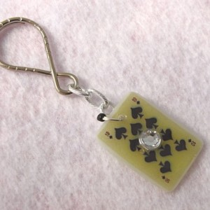 Lucky Keychain Ten of Spades