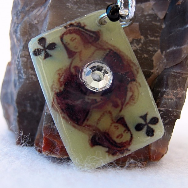 Lucky Keychain Queen of Clubs