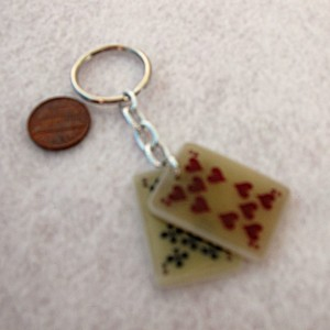 Lucky Keychain Pair of Tens