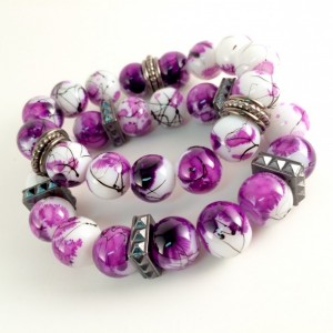 Chunky bracelet set (multiple colors available)