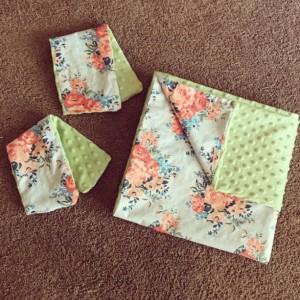 Custom Minky Dot Baby Blankets