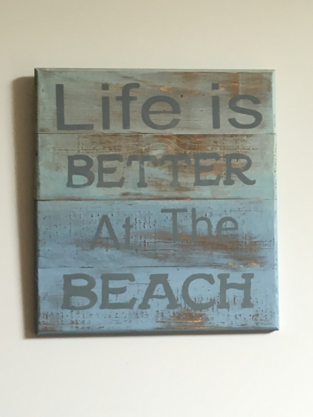 """""""Life is Better at the Beach"""" Wooden Sign"""