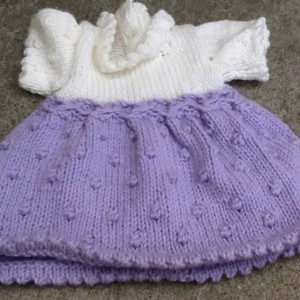 Lavender and white two tone premie dress, premie holiday dress, two toned premie dress, dress for that special little one  Ask a question