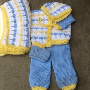 Sweater set for handsome baby boy