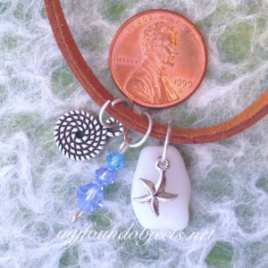 By the Sea Sea Glass Charm Necklace