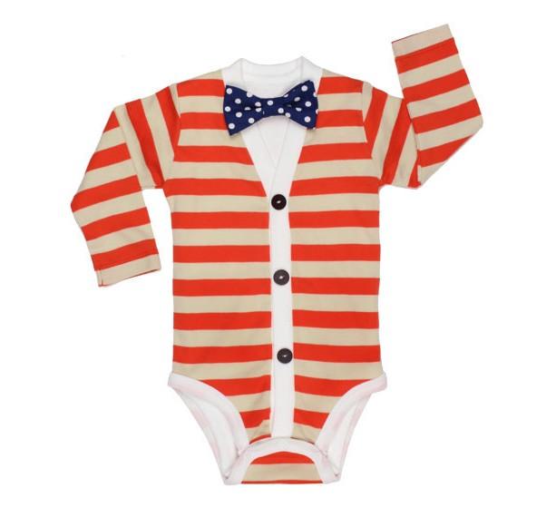 Baby Cardigan Onesie and Bow tie Set