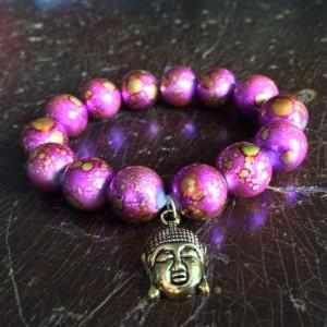 Pink buddha bracelet