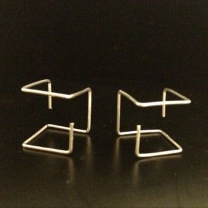 Argentium Cube Earrings