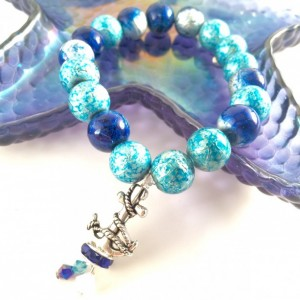 Blue anchor bracelet