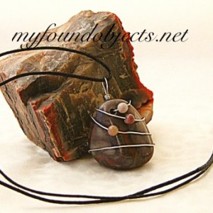 By the Earth, Unisex Wire Wrapped Jasper Pendant