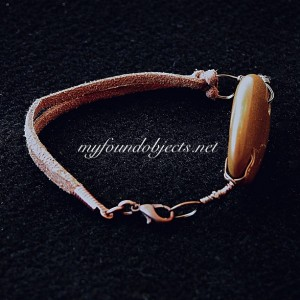 By the Earth, unisex polished stone bracelet