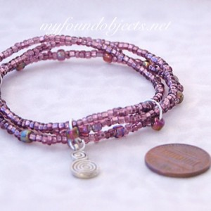 Beaded Stack Bracelets, Plum Double Spital