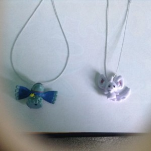 Minccino Pokemon necklace and Kyoger Pokemon necklace