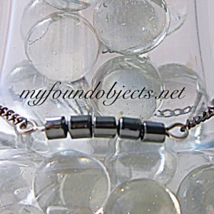 Gemstone Bar Stacking Bracelet, Hematite