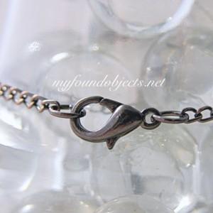 Gemstone Bar Stacking Bracelet, Hematite