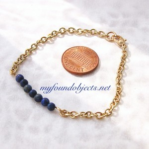 Gemstone Bar Stacking Bracelet, Lapis Lazuli
