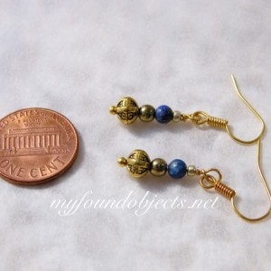 Simply Elegant Lapis Lazuli Ethnic Beaded Earrings