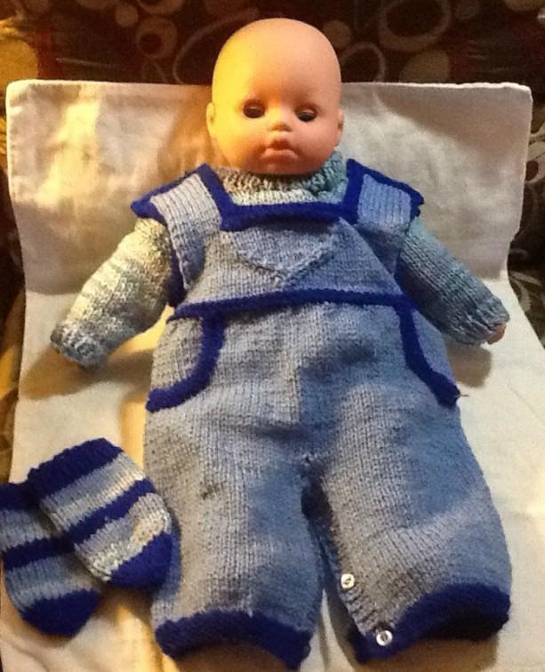 Shades of blue preemie overall set, baby boys overall set, welcome home preemie set, just in time for the holidays.