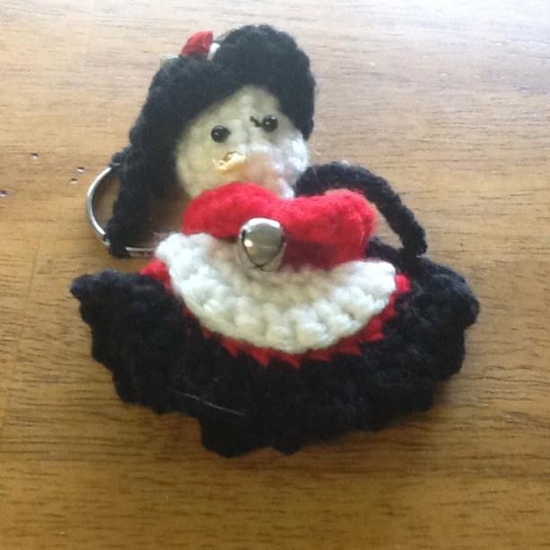 Team spirit snowman Keychain, Team colors snowman keychain, snowman keychain, fantasy keychain, gothic snowman keychain,  Ask a question
