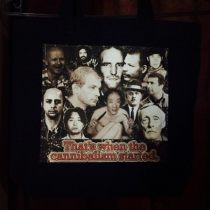 Cannibal killers tote bag