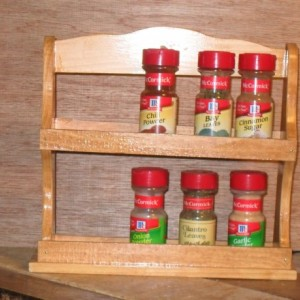 Spice rack, shelf