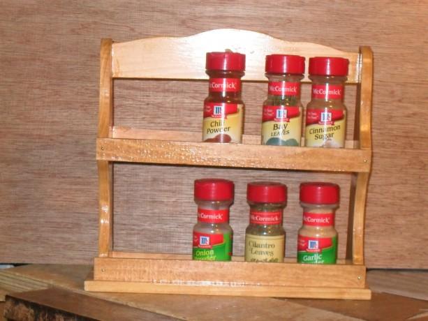Spice rack, shelf