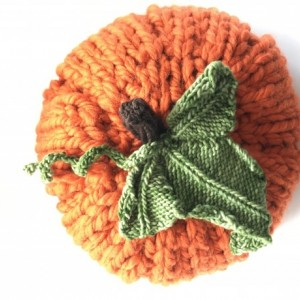 Large knitted pumpkin