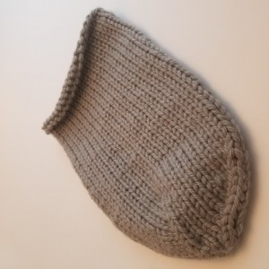 Hand Knitted Baby Cocoon - Slate Gray