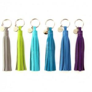 """4"""" Leather Tassel Key Chain   Tassel Purse Charm   Grad Gift   Key Tassel   Purse Tassel   Tassle Keychain, Key Chain   Bridesmaid Gift"""