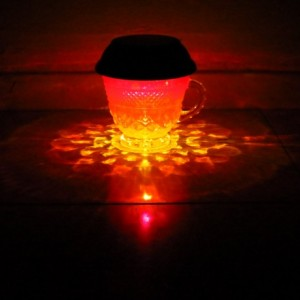 HandPainted Solar Luminary Red/Orange/Yellow