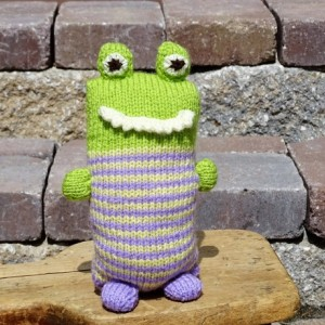 Stuffed Monster, Knitted Toy, Gift for Toddler , Plush Monster, Hand Knitted Toy